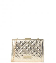 Love Moschino Golden Quilted Clutch