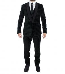 Dolce & Gabbana Green Velvet 3 Piece Suit