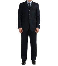 Armani Collezioni Solid Three Button Wool Suit