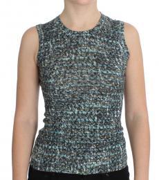 Blue Knit Sleeveless Top