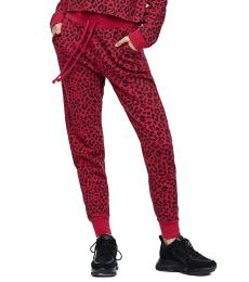 True Religion Red Leopard Print Joggers Pant