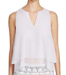 Tory Burch Light Purple Silk Tiered Casual Top