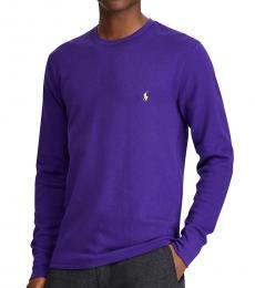 Ralph Lauren Dark Purple Waffle-Knit Thermal