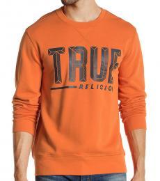 True Religion Orange Hard Knocks Sweatshirt
