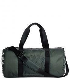 True Religion Green Monogram Large Duffle Bag