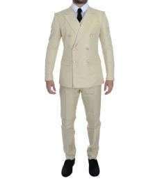 Dolce & Gabbana White Double Breasted Suit