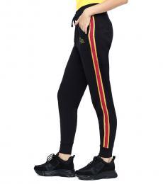 True Religion Black Luxe Logo Joggers Pant