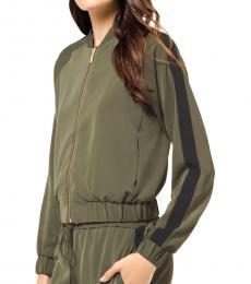 Michael Kors Ivy Striped Track Jacket