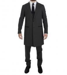 Dolce & Gabbana Grey 3 Piece Long Blazer Suit