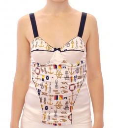 Dolce & Gabbana White Sailor Tank Top