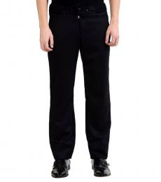 Versace Collection Black Wool Casual Pants