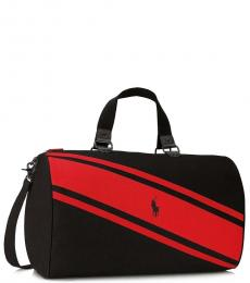 Ralph Lauren Black/Red Weekender Large Duffle Bag