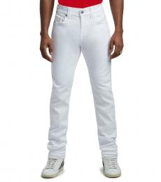 True Religion White Rocco Skinny Fit Jeans