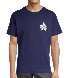Navy Blue Star Graphic T-Shirt