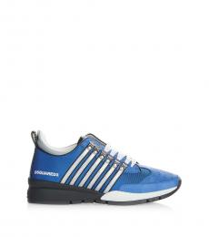 Dsquared2 Blue Leather Sneakers
