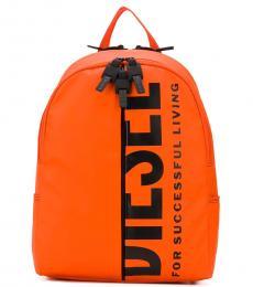Diesel Orange Bold Back Large Backpack