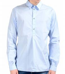 Blue Half Button Closure Shirt