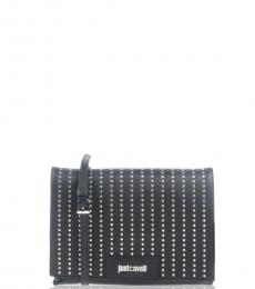 Black Embellished Medium Crossbody