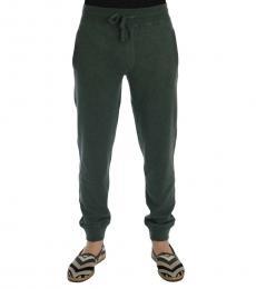 Dolce & Gabbana Green Cashmere Training Pants