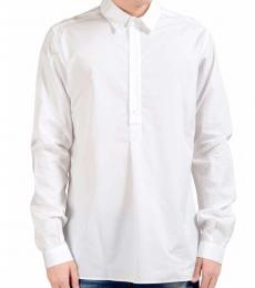 Dolce & Gabbana White Half Button Closure Shirt