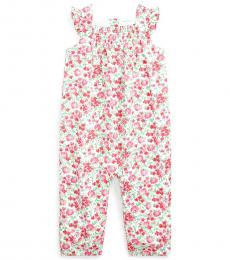 Ralph Lauren Baby Girls Cream Multi Floral Coverall