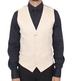 Dolce & Gabbana Beige Cotton Stretch Vest