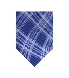 Michael Kors Blue Neat Check Silk Tie