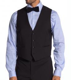 Black Slim Fit Suit Separate Vest