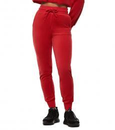 True Religion Ruby Red Velour Jogger