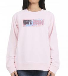 Marc Jacobs Pink Crew Neck Logo Sweatshirt