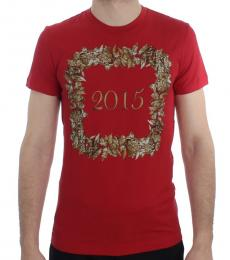 Dolce & Gabbana Red Motive Print Tee