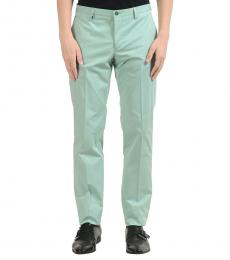Versace Collection Turquoise Flat Front Dress Pants