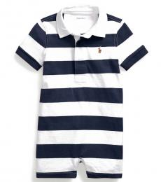 Baby Boys French Navy Striped Rugby Shortall