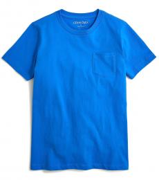 J.Crew Girls Seacoast Blue Pocket T-Shirt