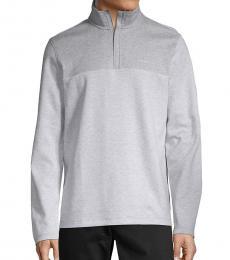 Calvin Klein Light Grey Logo Cotton Sweatshirt
