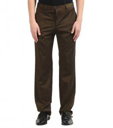 Versace Collection Dark Green Wool Dress Pants