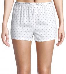 Calvin Klein White 2-Pack Logo-Print Boxer Shorts