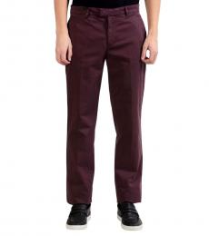 Versace Collection Cherry Solid  Casual Pant