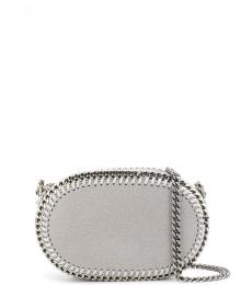 Grey Falabella Oval Mini Crossbody
