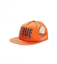 True Religion Orange Hard Knocks Cap