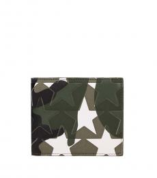 Valentino Garavani Green Stylish Multi Tasker Wallet