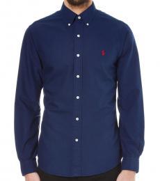 Navy Classic Fit Sport Shirt