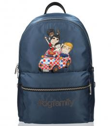 Dolce & Gabbana Blue Family Large Backpack