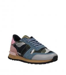 Blue Pink Sporty Sneakers