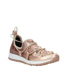 Jimmy Choo Pink Glitter Sneakers