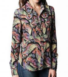 Multi-Color Print Button Up Shirt