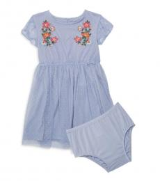 Baby Girls Blue Floral Dress