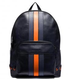 Coach Midnight Orange Houston Large Backpack