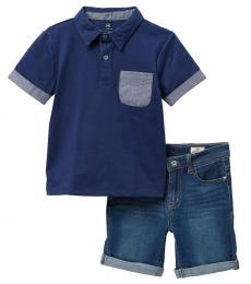 AG Adriano Goldschmied 2 Piece Polo/Shorts Set (Little Boys)