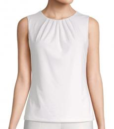 White Pintuck Camisole Top